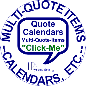 Section 10 X 10 -- ZMQ00 Multi-Quote -- Calendars etc